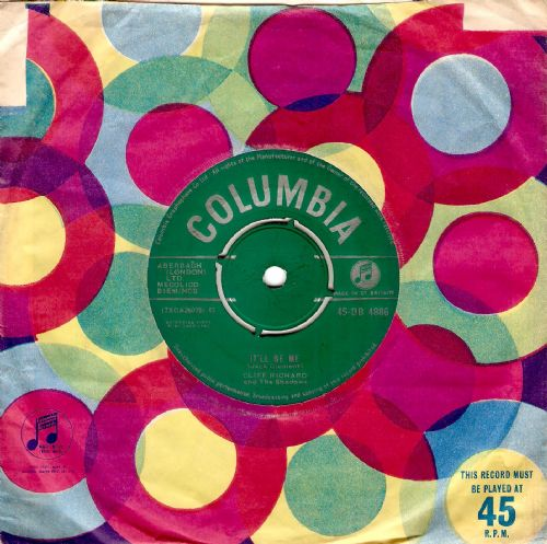 CLIFF RICHARD AND THE SHADOWS It'll Be Me Vinyl Record 7 Inch Columbia 1962